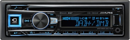 ALPINE CDE-196DAB, DAB RADIO, BLUETOOTH, FACEBOOK