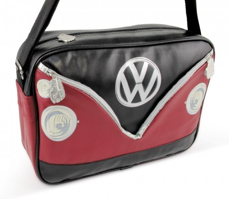 VW T1 buss skulderbag - sort/rød