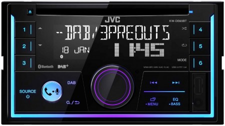 JVC KW-DB93BT, 2-DIN, CD, DAB+, Bluetooth, FLAC