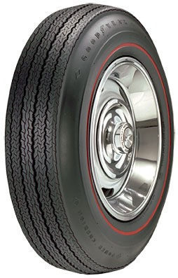 "Goodyear Power Cushion 775-15 med .350"" Rød stripe"