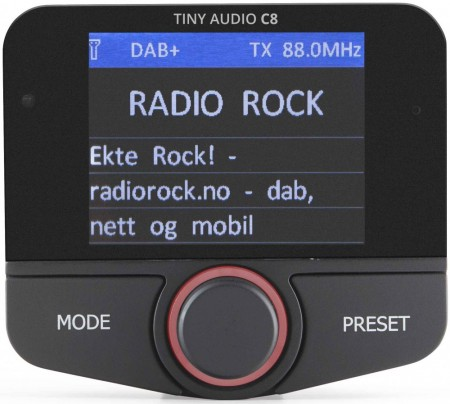 TINY AUDIO C8, DAB-adapter m/Bluetooth