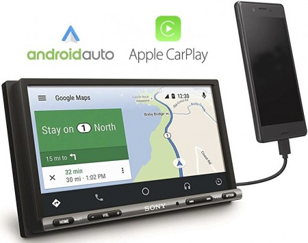 "SONY XAV-AX3005DB, DAB+, 6.95"", Android Auto / Apple CarPlay"